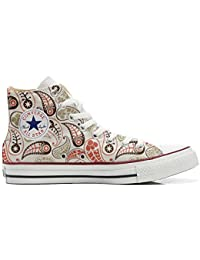 Converse All Star Customized, Sneaker Unisex, printed Italian style Vintage Paisley