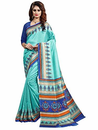 Miraan Printed Art Silk Saree for women with blouse (44)