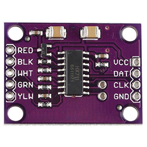 HX711es un báscula electrónica de alta precisión diseñado para diseñado para chip convertidor A/D de 24bits. En comparación con el mismo tipo de chip de otros que integra el periférico circuitos oscilador incluye cable de alimentación, chip de relo...