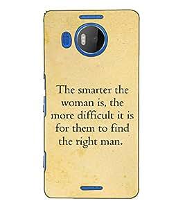 Fuson Designer Back Case Cover for Microsoft Lumia 950 XL :: Microsoft Lumia 950 XL Dual SIM (The smarter the woman is )