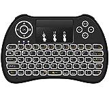 Mitid Rétroéclairage Mini clavier sans fil pour PC, Ordinateur portable, Raspberry Pi 2, MacOS, Linux, HTPC, IPTV, Google Android Smart TV Box, XBMC