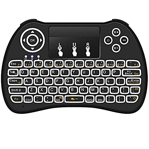 Mitid Rétroéclairage Mini clavier sans fil pour PC, Ordinateur portable, Raspberry Pi 2, MacOS, Linux, HTPC, IPTV, Google Android Smart TV Box,
