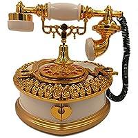 Preisvergleich für Baby-lustiges Spielzeug Kreative Pfirsich Herz Retro-Stil veraltet Telefon Design Spieluhr-Weiß