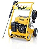 WOLF 200 BAR, 3000psi, 6.5HP Heavy Duty Petrol Driven Pressure Power Washer - Full Spares & Service...