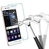 Protection écran Huawei P10, SOCU Film de Protection d'écran en Verre Trempé Qualité 9H Ultra Résistant Prévient Les égratignures Pour Huawei P10
