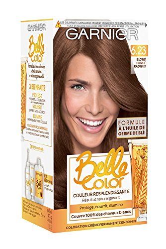 Garnier - Belle Color - Terre de Soleil - Coloration permanente Blond - 6.23 Blond foncé radieux Lot de 2