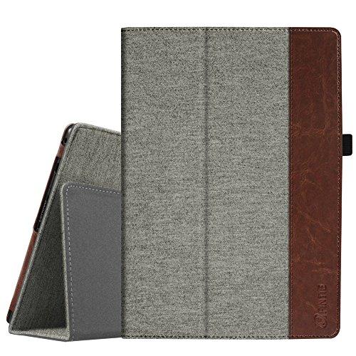 Fintie Lenovo Tab4 10 / Tab4 10 Plus Hülle - Folio Stoff Schutzhülle Tasche Etui Case mit Auto Schlaf/Wach Funktion für Lenovo Tab 4 10 / Tab 4 10 Plus (10 Zoll) Tablet-PC, Denim grau