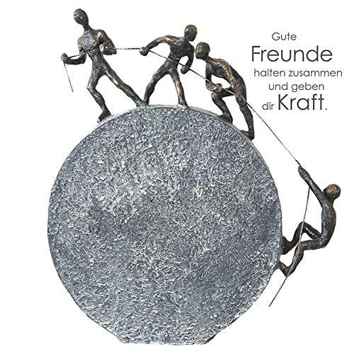 Moderne Skulptur LIFTING aus Poly bronzefinish Höhe 35,5 cm Breite 31,5 cm