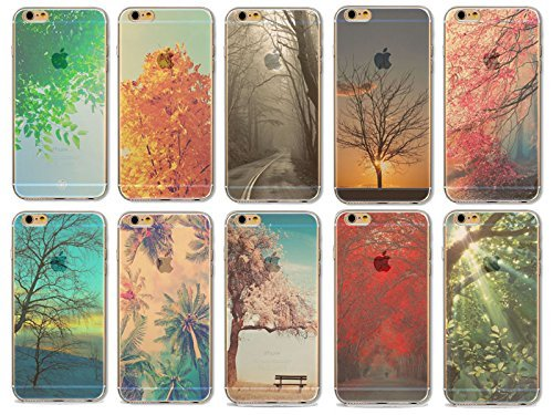 Coque iPhone 5 5s SE Housse étui-Case Transparent Liquid Crystal en TPU Silicone Clair,Protection Ultra Mince Premium,Coque Prime pour iPhone 5 5s-Paysage-style 5 7