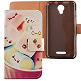 Lankashi PU Flip Leder Tasche Hülle Case Cover Schutz Handy Etui Skin Für Alcatel One Touch Pixi 4 5010D 5