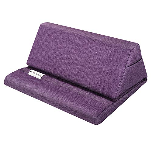 MoKo Tablet Pillow Stand, Soft Bed Pillow Holder Fit for New Kindle Fire 7 2019/2017, Kindle 10th Gen 2019, Fire HD 8 2018/2017, Kindle Paperwhite, Kindle Oasis - Purple