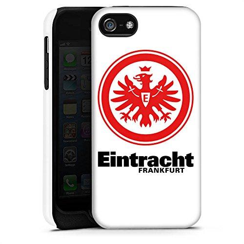 Apple iPhone SE Tasche Hülle Flip Case Eintracht Frankfurt Fanartikel Fußball Tough Case matt