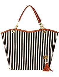 bolsos de mujer baratos Mujer de mano Switchali moda rayas Hombro de paquete casual bolsos de mujer verano 2017 bandolera para Señora pequeño elegante monedero vintage borlas bolsas de fiesta