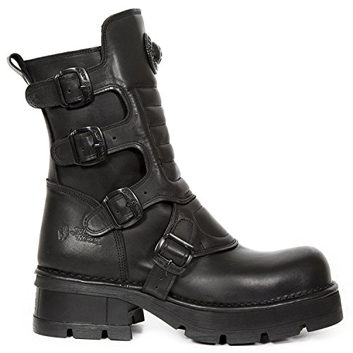 New Rock Womens M.373X.-S26 Crust Leather Boots Black