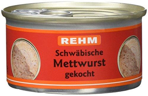 Rehm Schwäbische Mettwurst gekocht, 12er Pack (12 x 125 g)