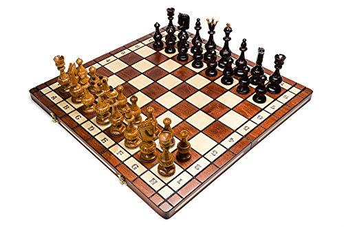 SALVATOR-groe-54cm215-Zoll-in-Handarbeit-aus-Holz-Schachspiel-Kirschbaum