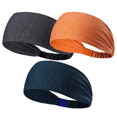 HANERDUN Sport Stirnband Damen Schweißbänder Kopf Stirn Baumwolle Haarband Kopfband für Laufen Fahrrad Joggen Tennis Yoga Fitniss