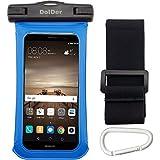 DolDer Pochette Sac étanche universel Waterproof Case Bag Housse Coque Etui pour iPhone 6s/6 Plus,Samsung Galaxy S7/S7Edge,Huawei P9/P9 Plus/P9 lite/P8, Sony Z5/Xperia X/XL, LG G5/G4 et les autres Smartphones Moins de 6.0 pouces- Bleu