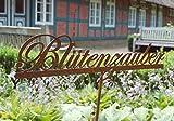 Landhaus Rankhilfe BLÜTENZAUBER, Gartenstab, Beetstecker im Shabby chic Stil