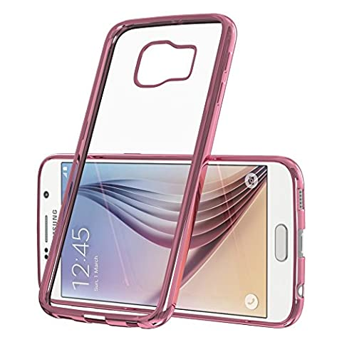 EAZY CASE Chrom Cover für Samsung Galaxy S4 Mini Schutz Hülle TPU Case Silikon Metallic Bumper Pink