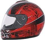 ROADSTAR Integral-Helm Revolution , Dekor Skyline rot Größe M