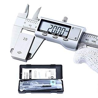 Electronic Vernier Caliper Digital Caliper, Vernier Caliper Measuring Tool with LCD Display Precision Measuring Metric/Fraction Conversion 100mm/4in-150mm/6in-200mm/8in-300mm/12in,300mm/12in