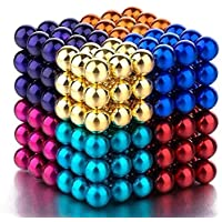 Little Hands Multi-Colored Balls for Kids , Degree Round Magnetic Stainless Steel Solid Balls for Kids Toy , 216 pcs…