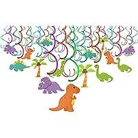 Konsait Colgante Decoraciones de Dinosaurios Fiesta Cumpleaños Remolino serpentinas Adornos de espirales para Infantiles Fiestas de Cumpleaños Decoración Suministros (30Piezas)