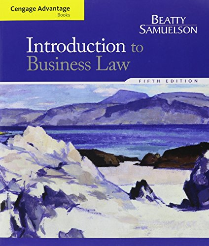 Bndl: Adv Book Introduction to Business Law (Cengage Advantage Books)