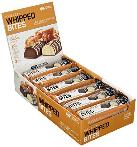Optimum Nutrition Protein Whipped Bites Bar Protein Riegel (mit 20g Eiweiß [enthält Whey Isolate], Proteinriegel von ON) Salted Caramel, 1er Pack (12x76g)