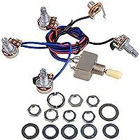 Kit de arnés de cableado para guitarra eléctrica LP Reemplazo, 2T2V Conmutador de 3 vías