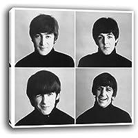 Oops Cuadro lienzo Beatles en bastidor de madera, listo para colgar (50x50)