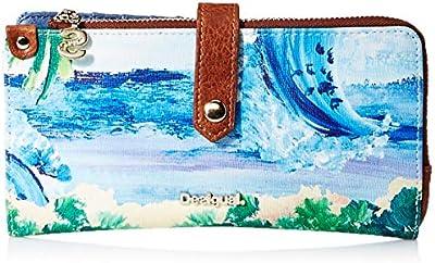 Desigual Landscape Ocean Ester Medium Wallet Azul Cielo