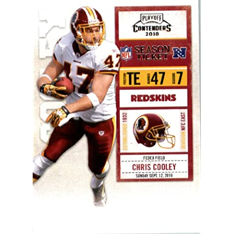 2010 Playoff Contenders Football Card # 98 Chris Cooley - Washington Redskins - NFL Trading Card by