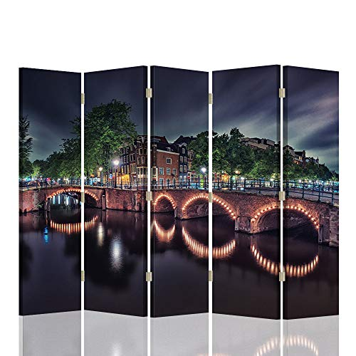 Feeby Pared divisoria Amsterdam 5 Paneles Unilateral Puente Paisaje Mu