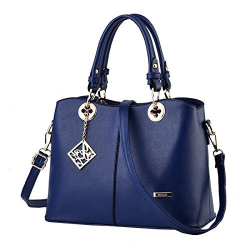 MeiZiWang, Borsa a secchiello donna Blue