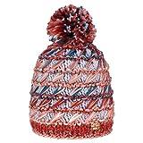 Nordbron 1533C099 Cherly Beanie Mütze Damen Frauen kuschelig, handgefertigte Mütze mit komfortablem Rippstrick-Spezialgarn, mit Fleece-Einsatz,Red Rust