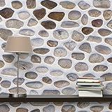 Vlies wallpaper- Andalusier Stone Wall–Wandbild quadratisch