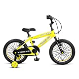 Biciclette per bambini 14 Biciclette Da Montagna Per Bambini Da 16 Pollici 3-5-8 Anni Ragazzi E Ragazze Biciclette Per Pedali Passeggino Blu Giallo Rosso (Colore : Giallo, dimensioni : 14 inch)