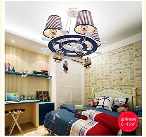 Die neue Steuer Mittelmeer LED-Leuchter kreative Schlafzimmer Auge Lampe Junge Kinder-Cartoon-Kunst - 5