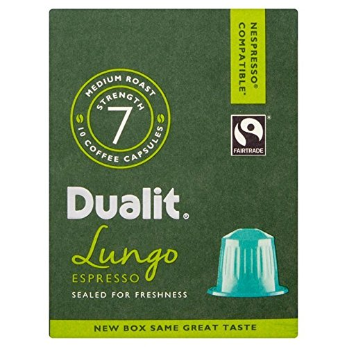 Buy Dualit Lungo Nespresso Compatible Coffee Capsules 80 per pack from Dualit