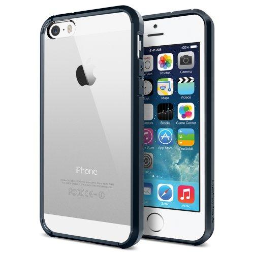 Spigen SGP10711 Ultra Hybrid Case for Apple iPhone 5S/5 (Metal Slate)