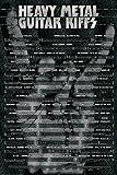 Poster Heavy Metal Gitarre Akkorde und Griffe für berühmte Songs - Größe 61 x 91,5 cm - Maxiposter