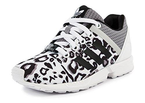 S78735 Donna Split Bianche Sportive Adidas Tela Zx Scarpe Animal Blanc Flux K OcTqC