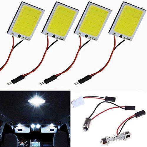Lot de 24 SMD T10 Adaptateur BA9S Ampoule voiture intérieur dôme Festoon Panneau LED Blanc 12 V
