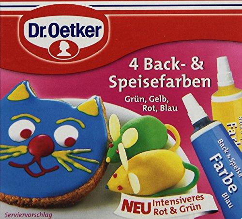 Dr. Oetker 4 Back- und Speisefarben, 40 g