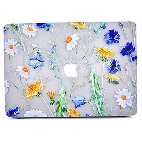 MacBook Air 11 Hülle, L2W Floral Design Pattern Glossy Matte Clear Durchsichtige Hülle Cover für Macbook Air 11