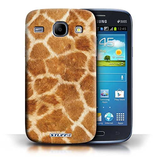 Coque en plastique pour Samsung Galaxy Core Collection Motif Fourrure Animale - Zèbre Girafe