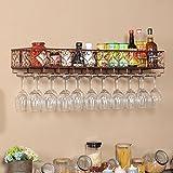 JXXDQ Eisen-Multifunktions-an der Wand befestigter Weinregal-Dekorations-Regal Rostschutz für Bars Restaurants Küchen Bronze (größe : 80 * 25cm)