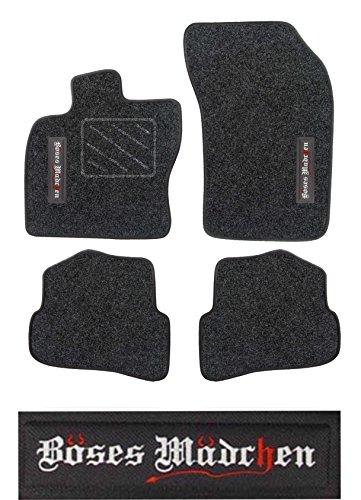 """Preisvergleich Produktbild Passform Fussmatte graphit mit Stickmotiv """"BÖSES MÄDCHEN"""" für Lexus IS 300 Limousine / Fließheck 05/99 - 07/05 ohne Mattenhalter"""